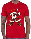 HARIZ  Herren T-Shirt Dab Weihnachtsmann Nikolaus Weihnachten Dab Teenager Trend Halloween Inkl. Geschenk Karte Rot 3XL