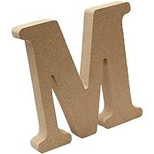 Gazechimp Placas de Madera Diseño de Alfabeto Letra Arte Carta Colgante de Pared Adorno Hogar Patio Boda - M