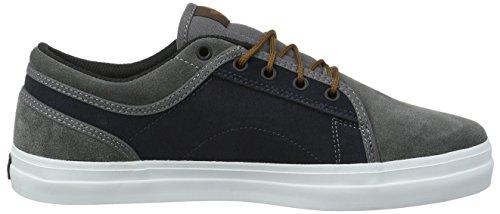 DVS Shoes Aversa, Chaussures de Skateboard Mixte Adulte Grau (Grey Suede Blue Canvas)