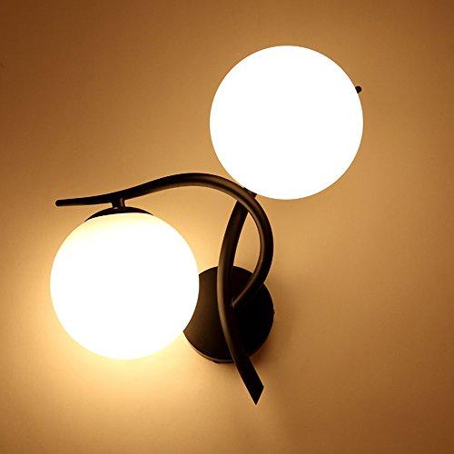Rabatt Esszimmer-möbel (GUORZOM Moderne Minimalistische Doppelkopf Wandlampe - Schlafzimmer Nacht Wohnzimmer Balkon Flur Treppenhaus Restaurant Wandleuchte,D)