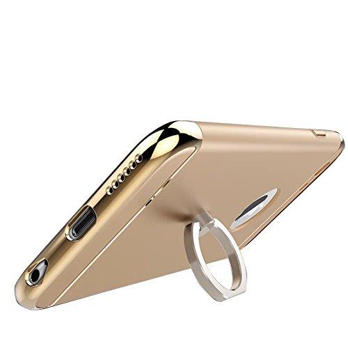 Vandot 1X Exclusive Unsichtbar Ultra Slim Dünn 0.9 MM Hart abziehbar Bumper für iPhone 6 6S 4.7 Zoll Rahmenschutz Hülle Glitzer Case Rückseite Bling Kristall Harte Hard Schale Tasche Etui Matt Air Pla Gold