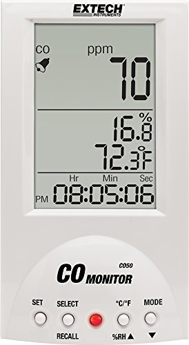 Extech Kohlenmonoxid-Messgerät für den Tischgebrauch, 1 Stück, CO50