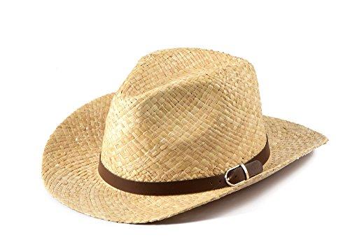 Miuno Herren Panamahut Cowboy Hut Partyhut Strohhut Raffia H51017 (Raffia Cowboy-hüte Für Männer)