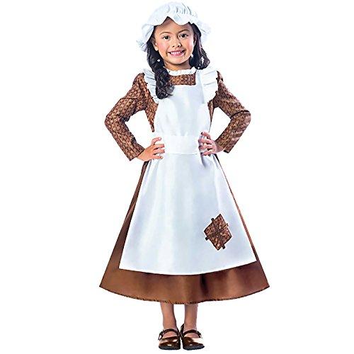 Viktorisches Mädchen Kinderkostüm 3-4 Jahre / (Kostüme Historische Kinder)