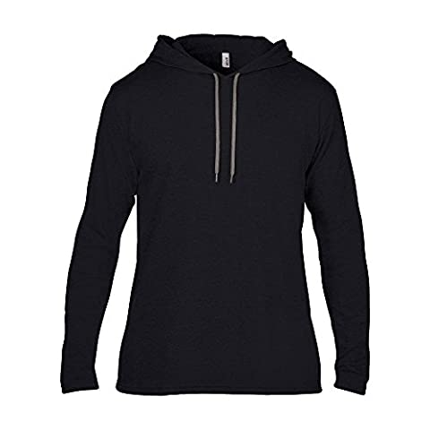 Anvil Mens Adult Fashion Basic Long Sleeve Hooded T