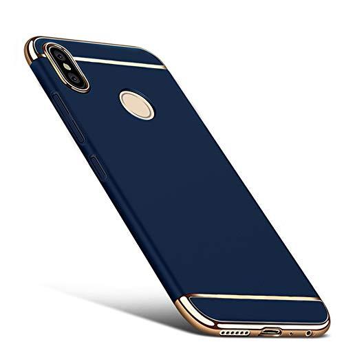 für Xiaomi Redmi Note 5/pro hülle Stoßfeste und Kratzfeste mattierte hülle+Gehärtetes Glas, 360 ° Schutz, Kompatibel mit Xiaomi Redmi Note 5/pro Handyhülle DESCHE-Blau