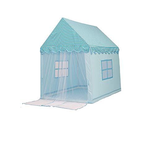 Mogicry Blau Haushalt Junge Dekoration Kind Tipi Mädchen Schloss Prinzessin Split Bett Artefakt Spielzeug Zimmer Spielzimmer Für Kinder Kinder Spielen Zelt Für Indoor Outdoor 1+(140 * 110 * 145CM)