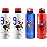AmazedDeal Beverly Hills Polo Club Two No.9 , One No.8 & One No.1 Deodorant For Men(Pack Of 4)Combo Pack