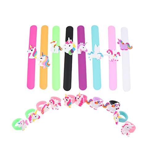 Silikon Slap Armband mit Einhorn-Ringen für Mädchen Kinder Slap Armbänder Party Favor für Geburtstag Party Schule Belohnungen ()