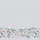 Lewis & Irene Weihnachtsstoff – LEW396 grau