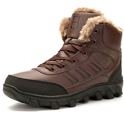 L-RUN Uomo Stivali Invernali Impermeabili in Pelle da Trekking Scarpe da  Escursionismo Rosso 11 0c5dc44658e2