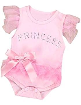 para 0~18 meses Bebé Ropa SMARTLADY Rosa princesa Mono para Niña Bebé