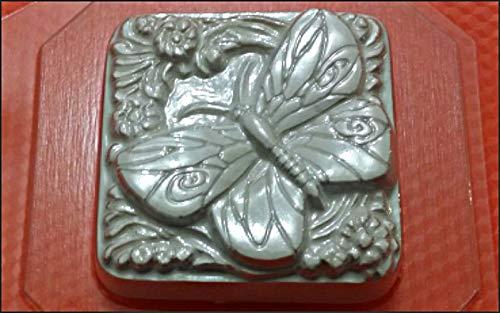 1pc Schmetterling Insekt Tier-Blumen-Kunststoff-herstellen von Seife Wachs Schokolade Gips-Käse-Cookies, Gelatin Mold Casting-Nahrungsmittelgrad-Form 66x66x22mm 66 Chocolate Mold