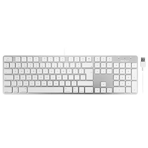 Macally SLIMKEYPROA-UK 104 Key English Layout Ultra Slim and Full Size USB Keyboard for Mac