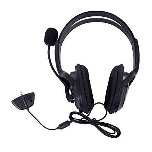 Price comparison product image HDE Xbox 360 Headset Game Chat Xbox Live Headphone with Microphone (Black)