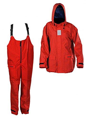 Navyline Coastal Basic Regenjacke & Regenhose, Farbe:rot, Größe:M