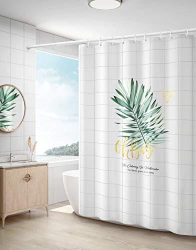 zsfzsf Duschvorhang Nordischer Duschvorhang IKEA Bad Bad Plane Sanitärtrennwand Wasserhaltende Toilette Türvorhang-150 Breite * 180 Höhe cm