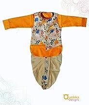Dhoti Pyjama and Printed Flower Jacket-19041