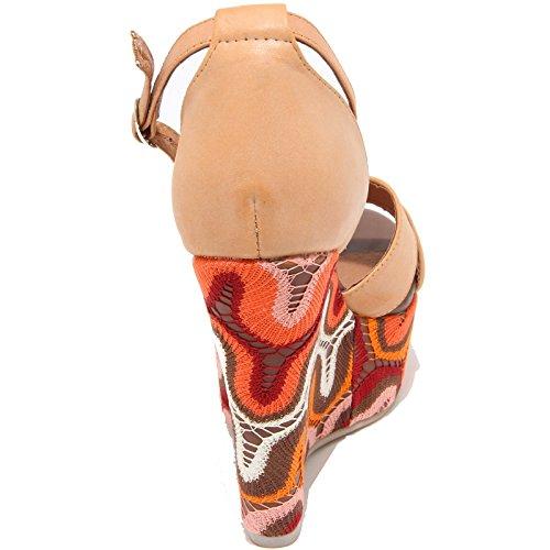 87616 Sandale Compensée Jeffrey Campbell Bradshaw Femme Chaussures Chaussures Femme Cuir