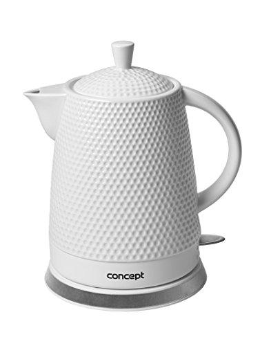CONCEPT Hausgeräte RK-0040 Keramik Wasserkocher + 2 Tassen 1.5L 2200W Keramik-wasserkocher