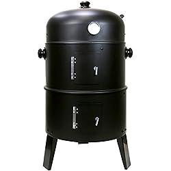 First4Spare Grill Barbecue et fumoir Rond à Charbon 3en 1avec cintres et Thermostat intégré