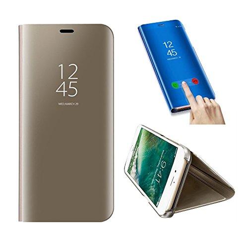 iPhone 6S Hülle, SevenPanda Smart Clear Sichtfenster Galvanisierauflage PC Spiegel Flip Folio Tasche Ultra dünn Thin Full Body Schutzhülle für iPhone 6 iPhone 6S 4.7