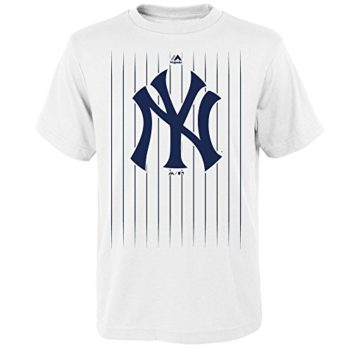 Outerstuff Gary Sanchez New York Yankees # 24MLB Youth Nadelstreifen Player T-Shirt Weiß, Jungen, Weiß, Youth X-Large 18