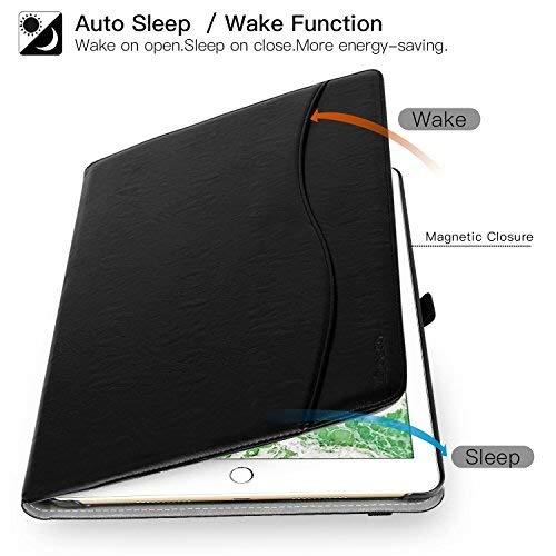 1a e 2a Gen Protettiva Ultra Sottile Supporta Funzione Auto Sveglia//Sonno per Apple iPad PRO 12,9 Pollici Tablet MoKo Custodia per iPad PRO 12.9 2017//2015 con Portapenna per Pencil Nero