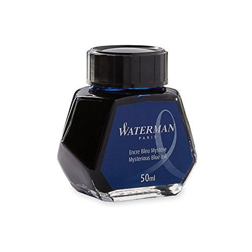 Waterman - Bote de tinta permanente (50 ml), color azul