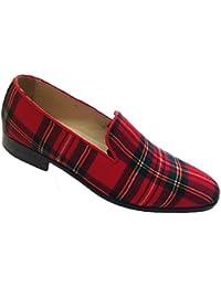 scarpe uomo, pantofole, slippers in tessuto scozzese
