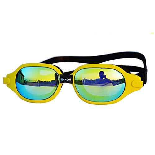 Floridivy BOIHON große Frame Schwimmbrille wasserdichte Brille Anti-Fog-HD Plating Schnorchel Tauchen Silikon Brillen