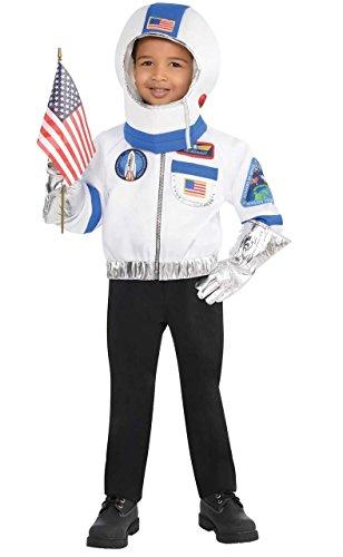 en Fach Flyer Astronaut Uniform Job Beruf TV Buch Film Welttag des Buches 4 Stück Kostüm Kleid Outfit Satz (Raumfahrer Kostüm Silber)