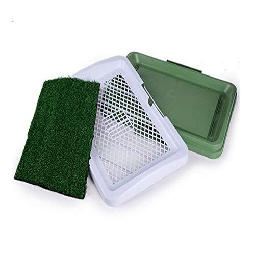 L-MEIQUN,Dreistufiges Hundetrainingsgerät für Hunde-Tablett-Toiletten- und Rasen-Hunde-Becken-Windel-Ausrüstung
