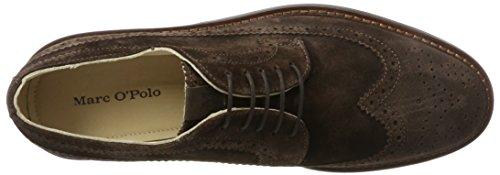 Marc OPolo Lace Up Shoe 70823773402303, Brogues Homme Marron foncé