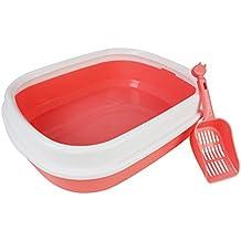 Arenero Gatos Inodoro Bandeja Higienica Gatos y Mascotas Incluye Pala, Abierto, Plástico Suave,