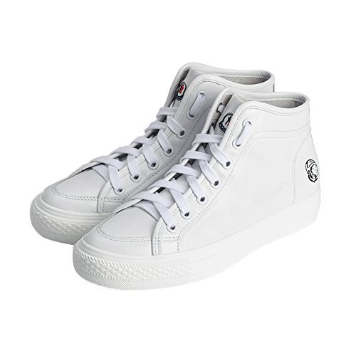 Fr¨¹he neue women's shoes/leder mit wei?em flachen boden high help schuhe/casual damenschuhe-schwarz Fu?l?nge=23.8CM(9.4Inch) (Turnschuhe Leinwand Wei)
