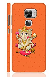 AMAN Lord of Ganesha Orange 3D Back Cover for LeEco Le 2s