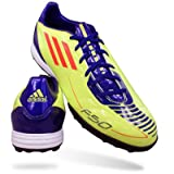 adidas Fußballschuhe F10 TRX TF gelb-lila, Größe:UK 11 (46)