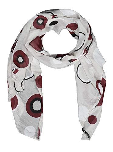 Zwillingsherz Seiden-Tuch Damen stylisches Muster - Made in Italy - Eleganter Sommer-schal für Frauen - Hochwertiges Seidentuch/Seidenschal - Halstuch und Chiffon-Stola Dezent Stilvoll Gepunktet