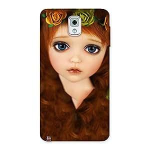 Impressive Tini Doll Multicolor Back Case Cover for Galaxy Note 3