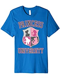 Disney Princess University College Text Logo Graphic T-Shirt