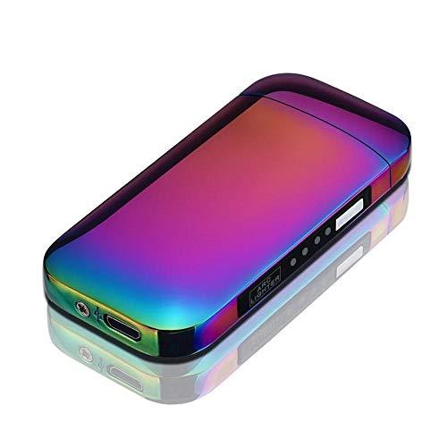 Ceepko USB Wiederaufladbare Dual Arc Elektro-Feuerzeug, Mode LED Batterie Anzeige Flammenlose Und Winddichte Elektronische Feuerzeug Perfekt Für Zigaretten Zigarre (Auto-zigarren-feuerzeug)