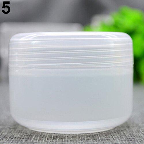 Sukisuki - 5 pots vides de maquillage pour les voyages - En plastique - 20, 50 ou 100 ml - Flacons ronds pour cosmétiques transparent transparent 100