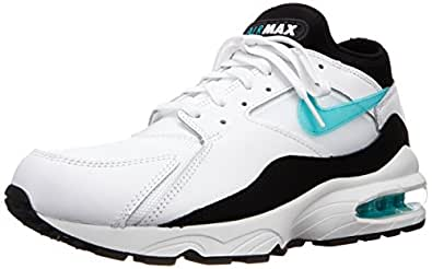 Nike air max 93 chaussures sneakers mode homme cuir blanc noir Nike T:40
