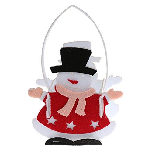Sharplace borsa pupazzo di neve casa regalo per bambini terma natale sacchetto di caramelle fai da te - pupazzo neve, 22 x 13,5 x 9 cm