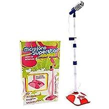 Globo Toys Globo–37335Factory Micrófono con personal/amplificador/MP3connes/luz y sonido