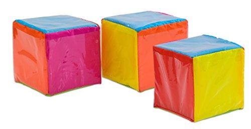 Betzold 85947 - Geschichten-Würfel 3 Stück Kinder zum Selbstgestalten, 15 x 15 x 15 cm - cube Rechenwürfel Lehrerbedarf (Spannungen Würfel)