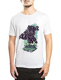 DTAAR Black Panther Marvel Comics Superhero Printed Round Neck Men's & Women's T-Shirt