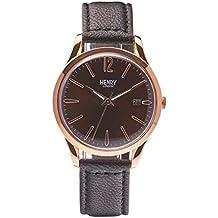 Henry de Londres Unisex Reloj de pulsera Harrow analógico de cuarzo piel hl39de S de 0048 (Reacondicionado Certificado)