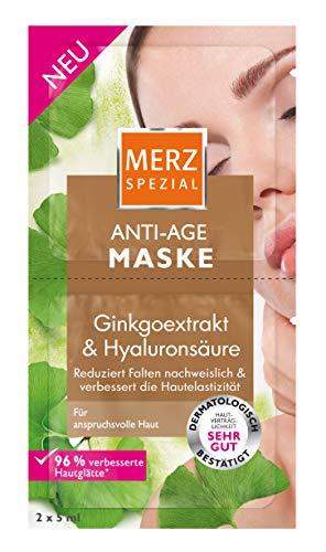 Merz Spezial Anti Age Maske - Gesichtsmaske mit Ginkgoextrakt & Hyaluronsäure - Reduziert Falten & verbessert die Hautelastizität - 1 x 10 ml